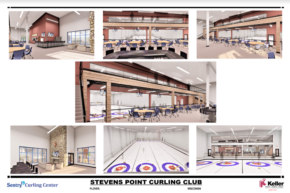 Inside Sentry Curling Center Rendering