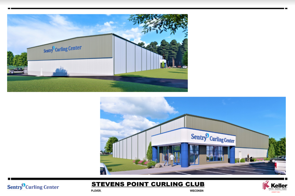 Outside Sentry Curling Center Rendering